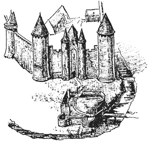 В замке Гудрич близ
